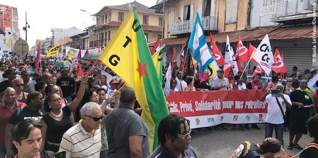 Réforme des retraites : grève fortement suivie à Cayenne et Saint-Laurent