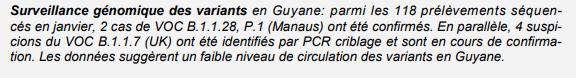 L'ARS s'explique sur sa confirmation tardive de la présence démontrée de cas de variant préoccupant brésilien de Manaus en Guyane